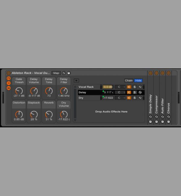 Ableton Effects Rack - Vocal Ducking Delays & Slapback - ED0006