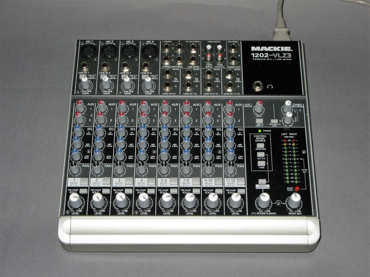 Mackie 1202 Vlz3 Compact Audio Mixer Electric Denim Studios Circuit Volume Pan Amplifier