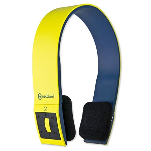Connectland Wireless Bluetooth Headphone, Yellow