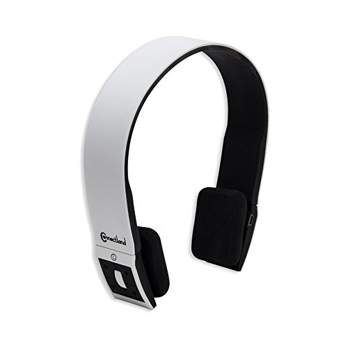Connectland Wireless Bluetooth Headphone, White