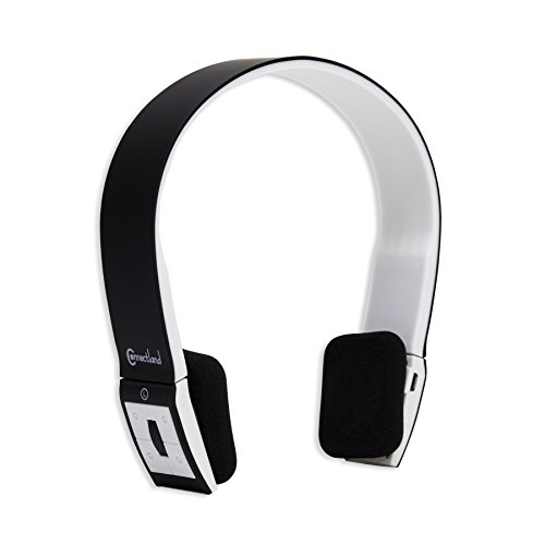 Connectland Wireless Bluetooth Headphone, Black