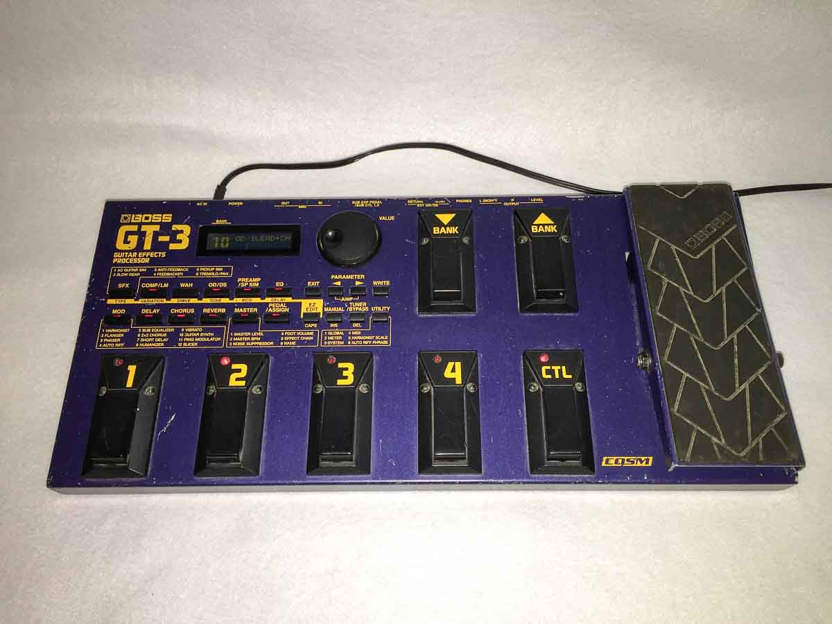 boss gt 3 multi effects guitar pedal electric denim studios. Black Bedroom Furniture Sets. Home Design Ideas