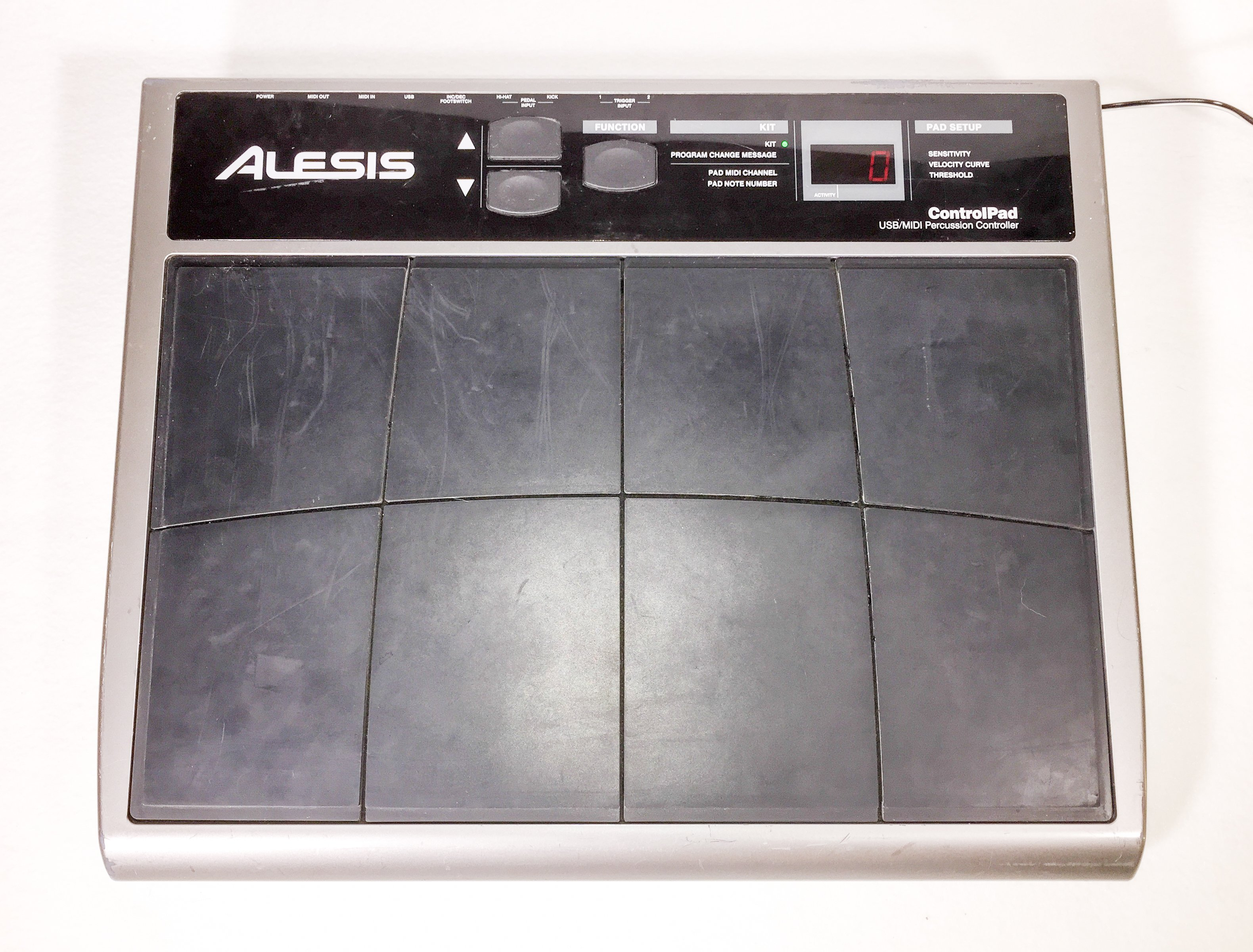 alesis control pad usb midi percussion pad controller controlpad electric denim studios. Black Bedroom Furniture Sets. Home Design Ideas