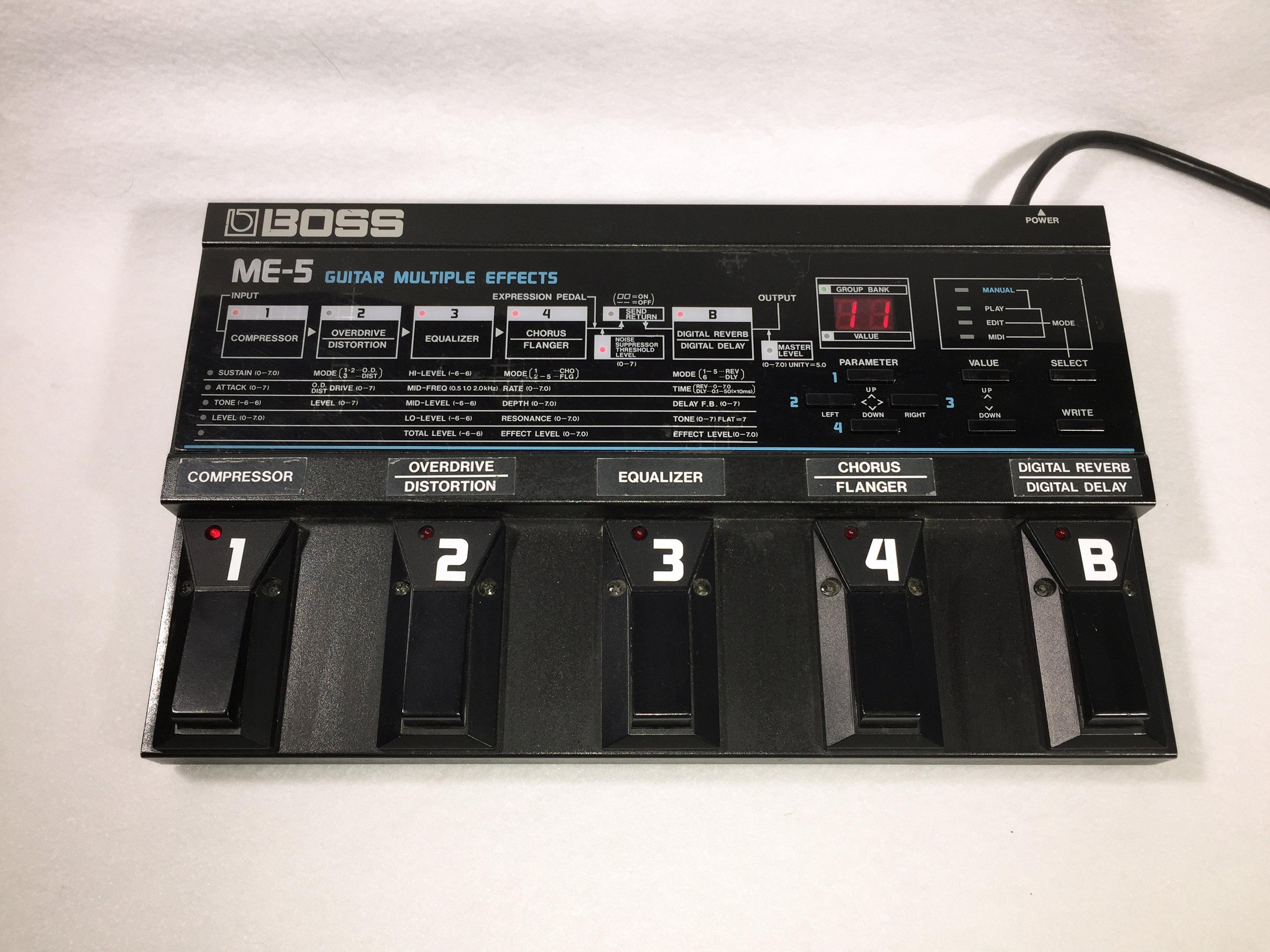boss me 5 guitar multiple effects pedal electric denim studios. Black Bedroom Furniture Sets. Home Design Ideas