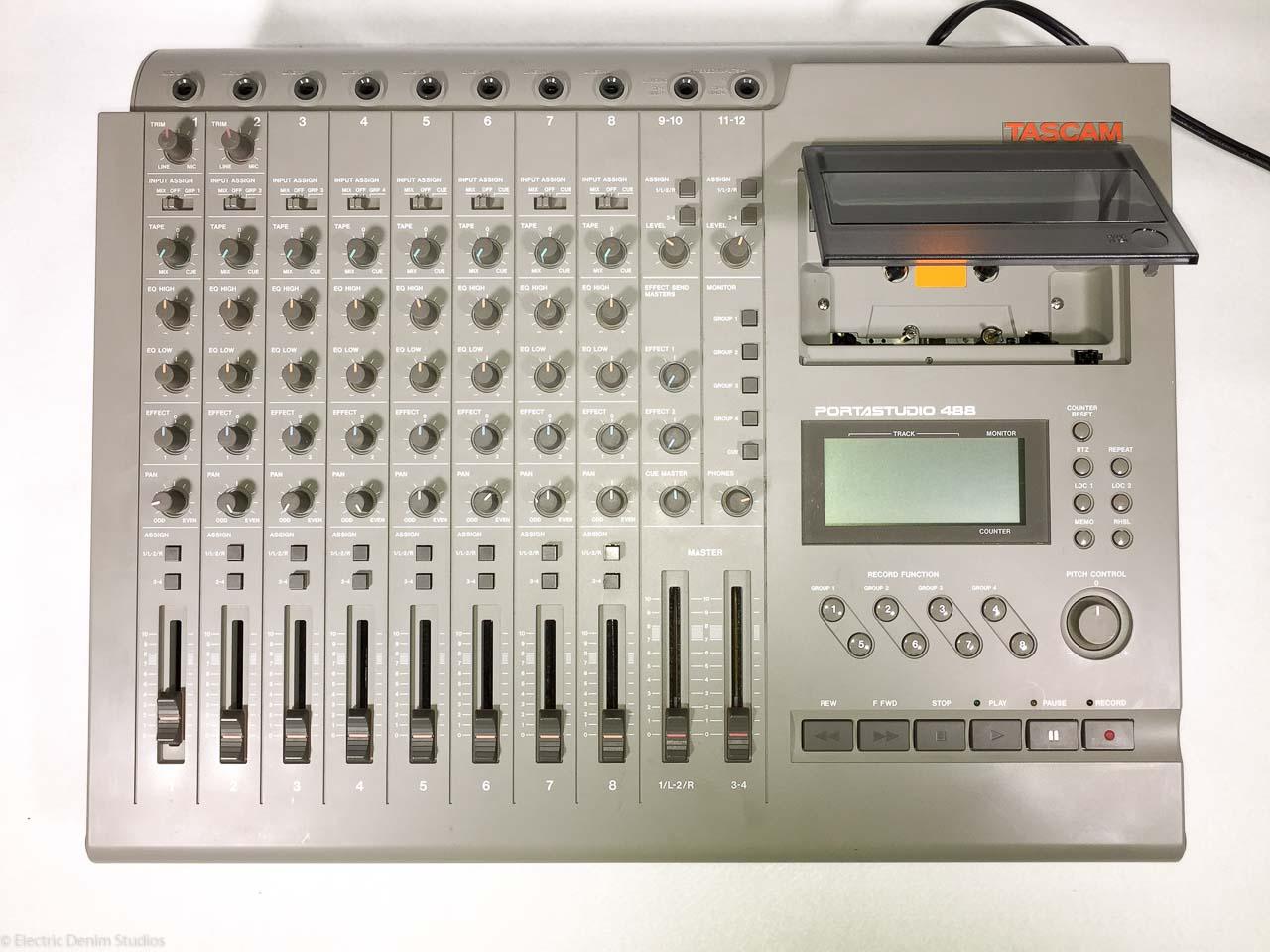 tascam portastudio 488 mk1 vintage 8 track cassette tape recorder. Black Bedroom Furniture Sets. Home Design Ideas