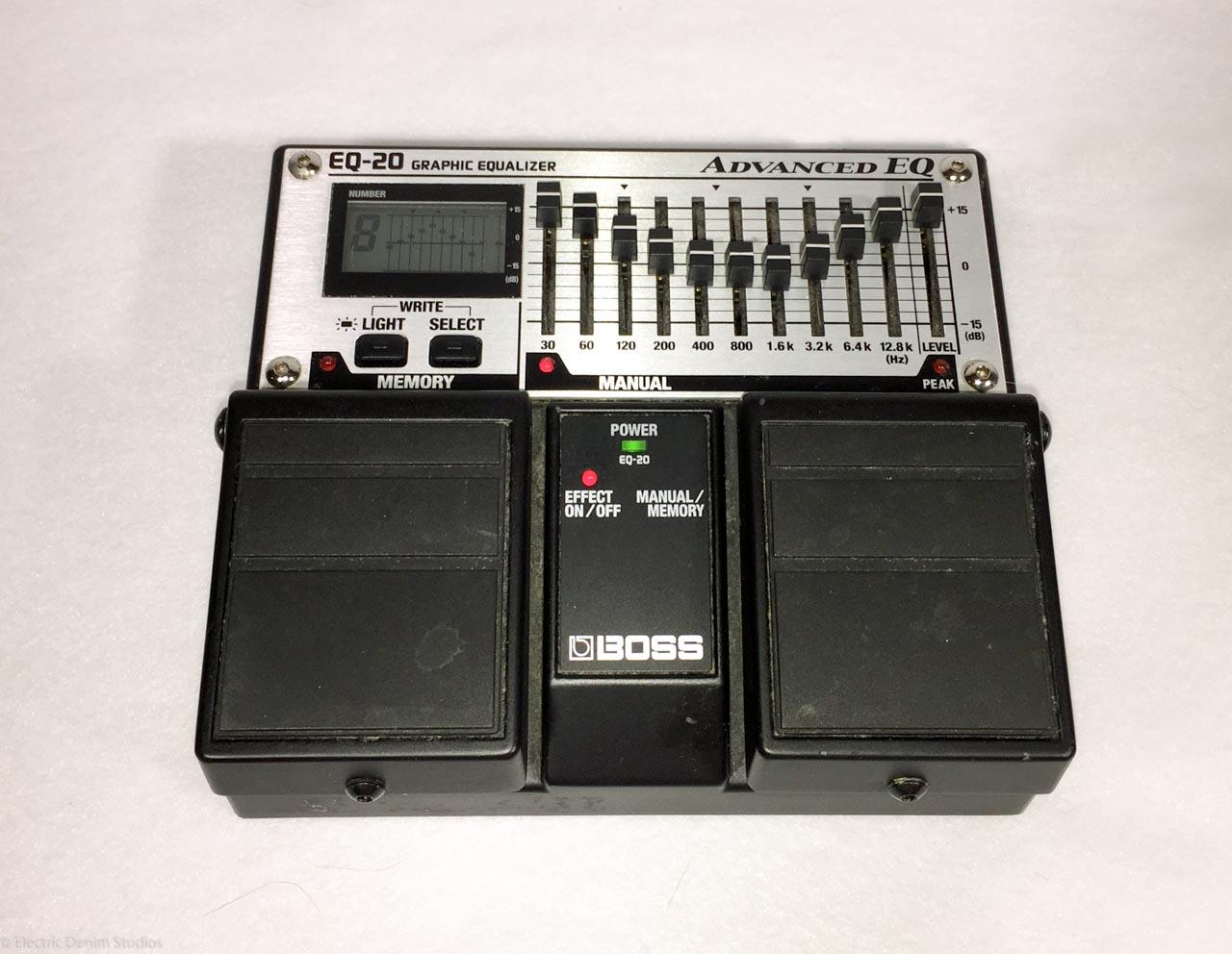 boss eq 20 guitar effect pedal 10 band programmable digital equalizer electric denim studios. Black Bedroom Furniture Sets. Home Design Ideas